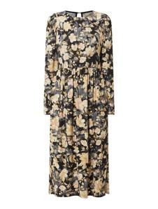 Sukienka Free/quent z długim rękawem maxi z bawełny