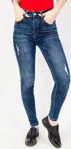 Granatowe jeansy Olika z jeansu w stylu casual