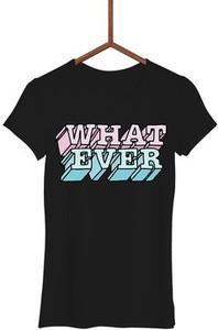 Czarny t-shirt Failfake w młodzieżowym stylu z krótkim rękawem