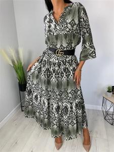 Sukienka ModnaKiecka.pl z dekoltem w kształcie litery v maxi