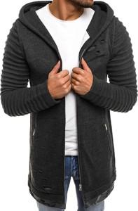Czarny sweter breezy bez wzorów