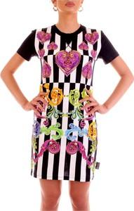 Sukienka Versace Jeans z bawełny z krótkim rękawem