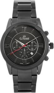 ZEGAREK MĘSKI GINO ROSSI - 6846B (zg200e) + BOX - Czarny