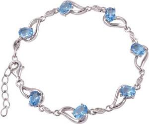 Braccatta ARIA; Srebrna bransoletka z blue topazami 6,6 ct