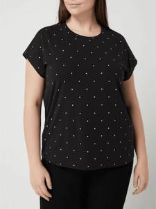 Czarna bluzka Vero Moda z bawełny z krótkim rękawem