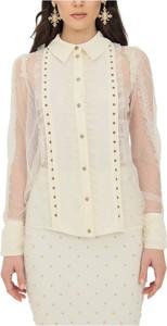 Koszula Elisabetta Franchi z tiulu w stylu casual