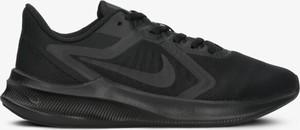 Czarne buty sportowe Nike sznurowane ze skóry z płaską podeszwą
