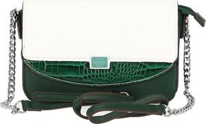 Zielona torebka Verde średnia matowa na ramię