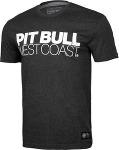 Czarny t-shirt Pit Bull z bawełny z krótkim rękawem