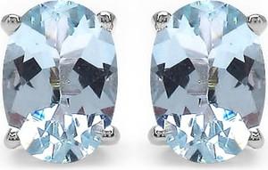 Braccatta TARA 7 Srebrne kolczyki z blue topaz
