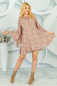 Sukienka Made in Italy w stylu casual mini z długim rękawem
