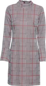 Sukienka bonprix BODYFLIRT z długim rękawem dopasowana z golfem