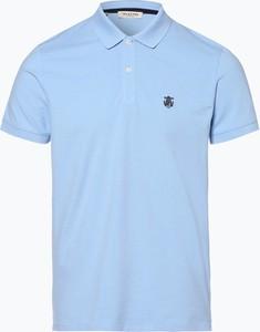 Niebieska koszulka polo Selected w stylu casual z krótkim rękawem
