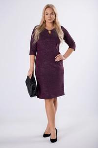 Fioletowa sukienka Manumo z długim rękawem