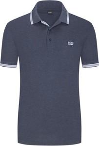 Niebieska koszulka polo Boss z krótkim rękawem