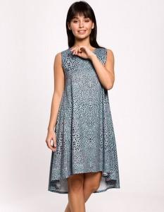 Niebieska sukienka Be z dzianiny mini