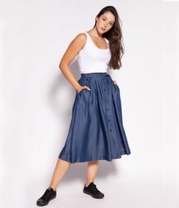 Niebieska spódnica Lee Cooper midi