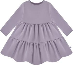 Fioletowa sukienka dziewczęca Tuszyte z bawełny