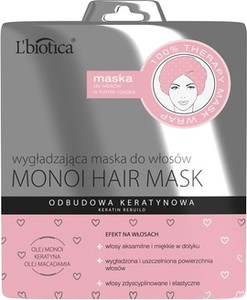 L'Biotica L'BIOTICA Monoi Hair Mask - Maska wygładzająca do włosów w formie czepka 30 ml