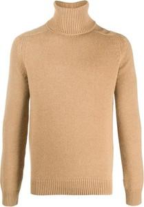 Brązowy sweter SAINT LAURENT w stylu casual