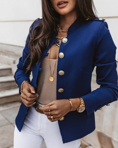 Niebieska marynarka Kendallme krótka
