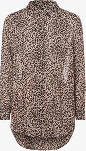 Bluzka Vero Moda z długim rękawem z kołnierzykiem