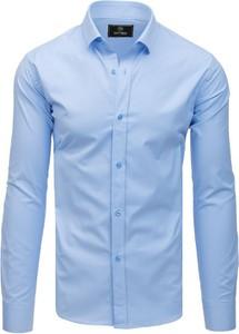Niebieska koszula Dstreet z długim rękawem z klasycznym kołnierzykiem