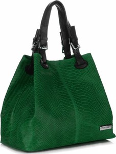 Zielona torebka VITTORIA GOTTI ze skóry do ręki