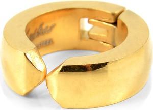 Trendhim Klasyczny złoty kolczyk na zatrzask
