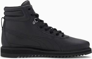Czarne buty zimowe Puma sznurowane
