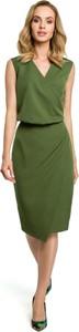 Sukienka MOE midi ołówkowa z dekoltem w kształcie litery v