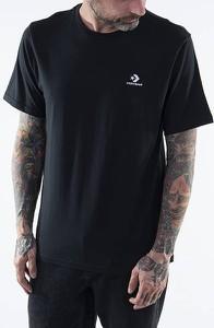 Czarny t-shirt Converse z bawełny