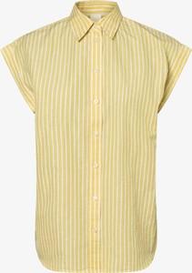 Żółta bluzka Hugo Boss z krótkim rękawem