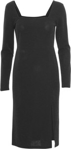 Sukienka A-view z długim rękawem z wełny