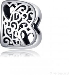 SilverBeads.pl G076 Litera B serce charms koralik srebro 925