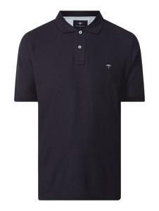 Granatowa koszulka polo Fynch Hatton z bawełny