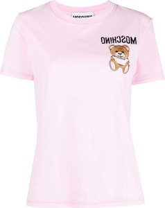 T-shirt Moschino z bawełny z krótkim rękawem