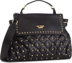 Czarna torebka My Twin w stylu casual