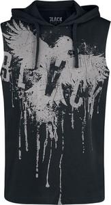 Czarny t-shirt Emp z bawełny z krótkim rękawem