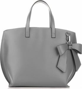 Klasyczne torby skórzane firmy vittoria gotti szare