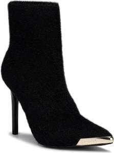 Czarne botki Versace Jeans