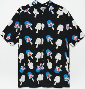 Koszula Cropp z nadrukiem w młodzieżowym stylu z krótkim rękawem