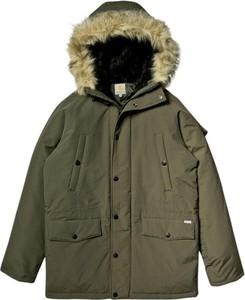 Zielona kurtka Carhartt WIP długa w stylu casual