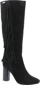 Kozaki Pepe Jeans ze skóry przed kolano
