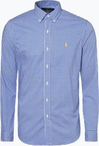 Niebieska koszula POLO RALPH LAUREN z kołnierzykiem button down w stylu casual