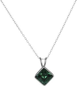 Monarti Srebrny naszyjnik z kryształem Swarovskiego