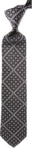 Czarny krawat Stefano Ricci z jedwabiu