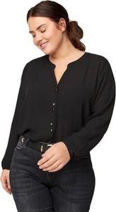 Czarna koszula Zizzi z długim rękawem
