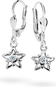 Cutie jewellery kolczyki dziecięce cutie gwiazdki c1996 białego, white, zapięcie patentowe