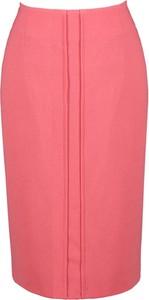 Różowa spódnica Fokus midi